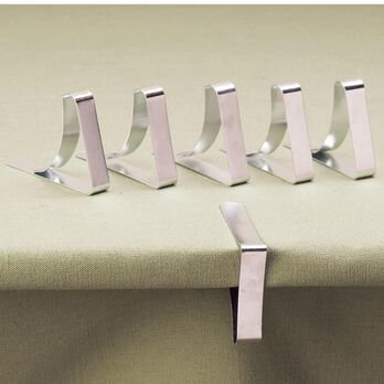 Steel Tablecloth Clamps
