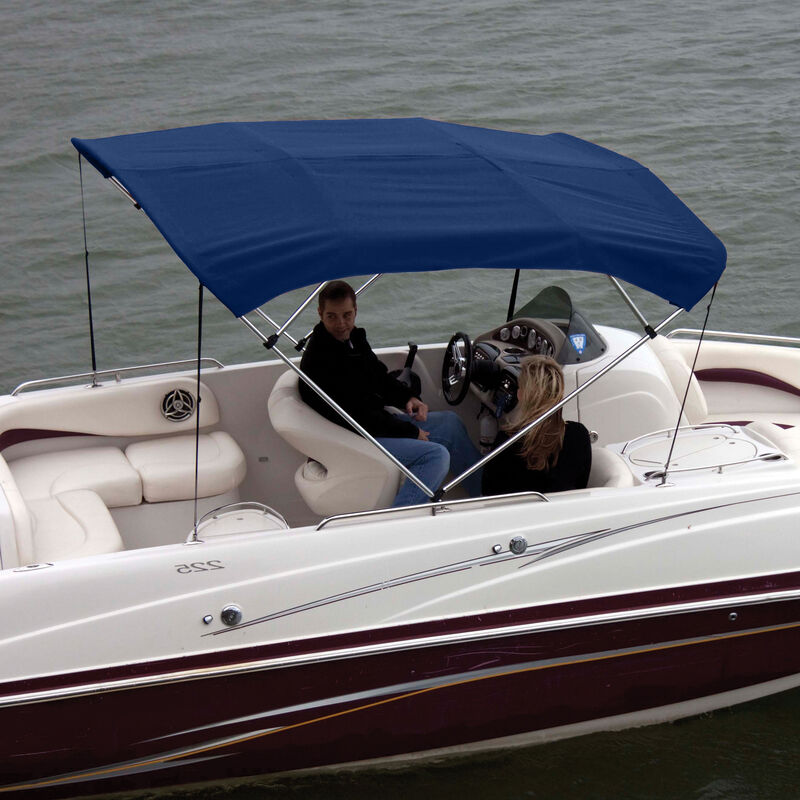 """Shademate Polyester 4-Bow Bimini Top, 8'L x 54""""H, 79""""-84"""" Wide image number 2"""