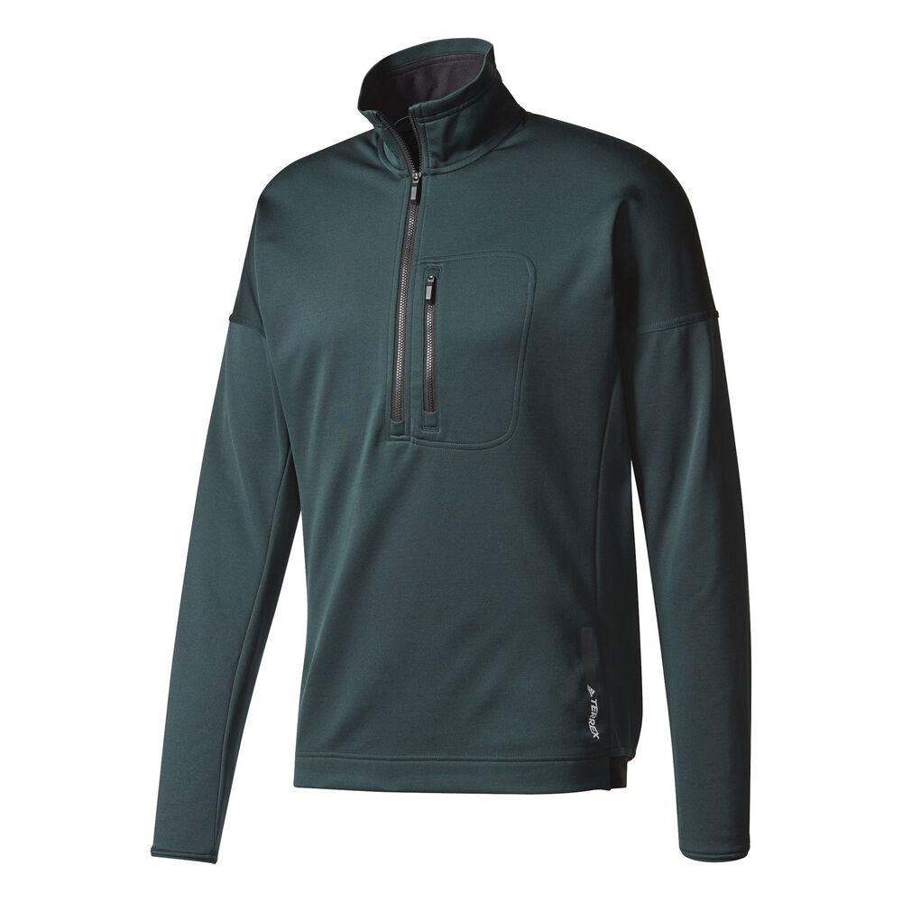 a673ad62cd1e Adidas Men s Terrex Tivid Fleece Half-Zip Pullover