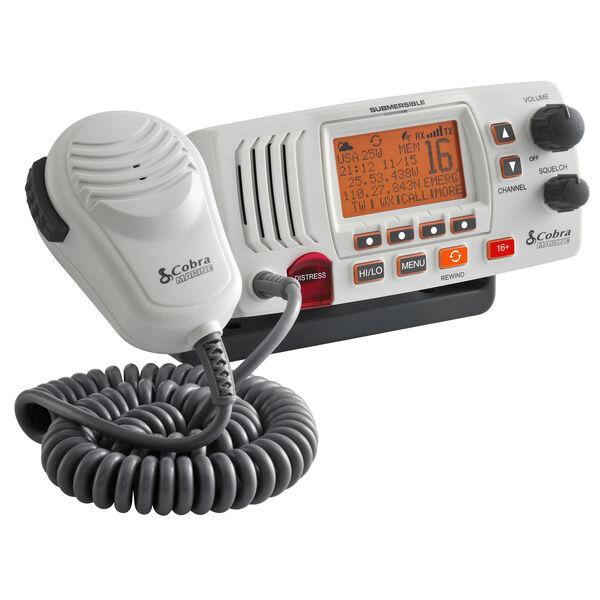 Cobra Marine MR F57 Class-D Fixed-Mount VHF Radio, white