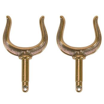 Ribbed Oar Lock Horns, bronze