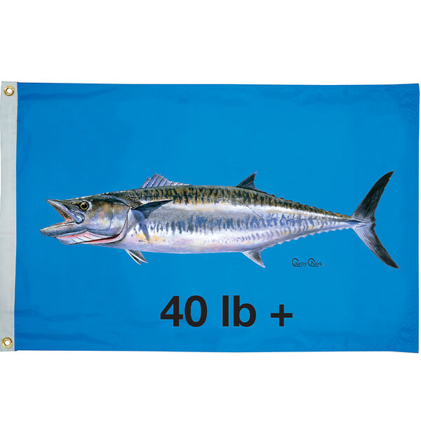 "Carey Chen Flag 24"" x 36"", King Mackeral 40+ lbs"