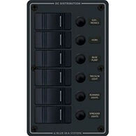 Blue Sea Water-Resistant Contura Circuit Breaker Panel - 6-Position Vertical