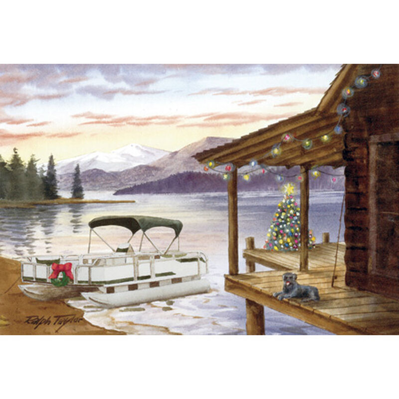 Cabin On The Lake Christmas Cards image number 1