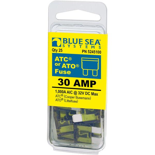 Blue Sea Systems 30A ATO/ATC Fuse (25 Pack)