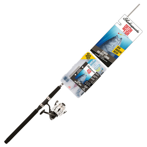 Shakespeare Catch More Fish Striper Spinning Rod And Reel Combo