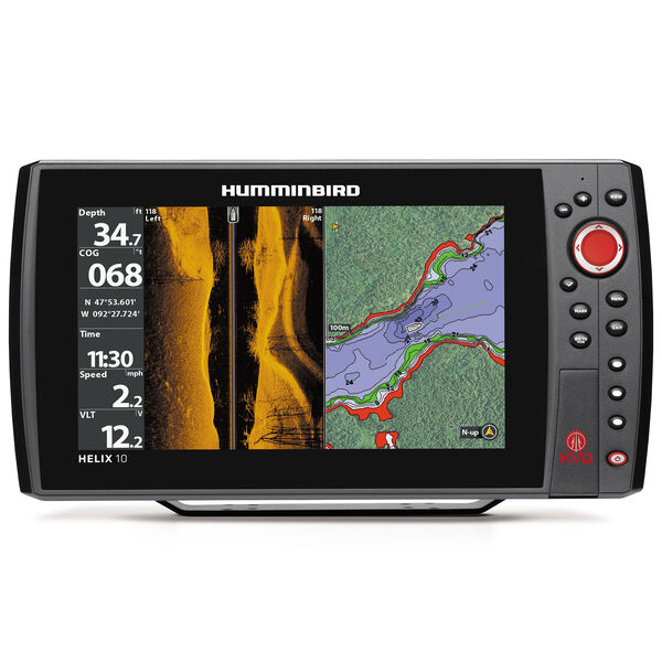 Humminbird Helix 10 SI KVD Fishfinder GPS Combo With KVD Lures