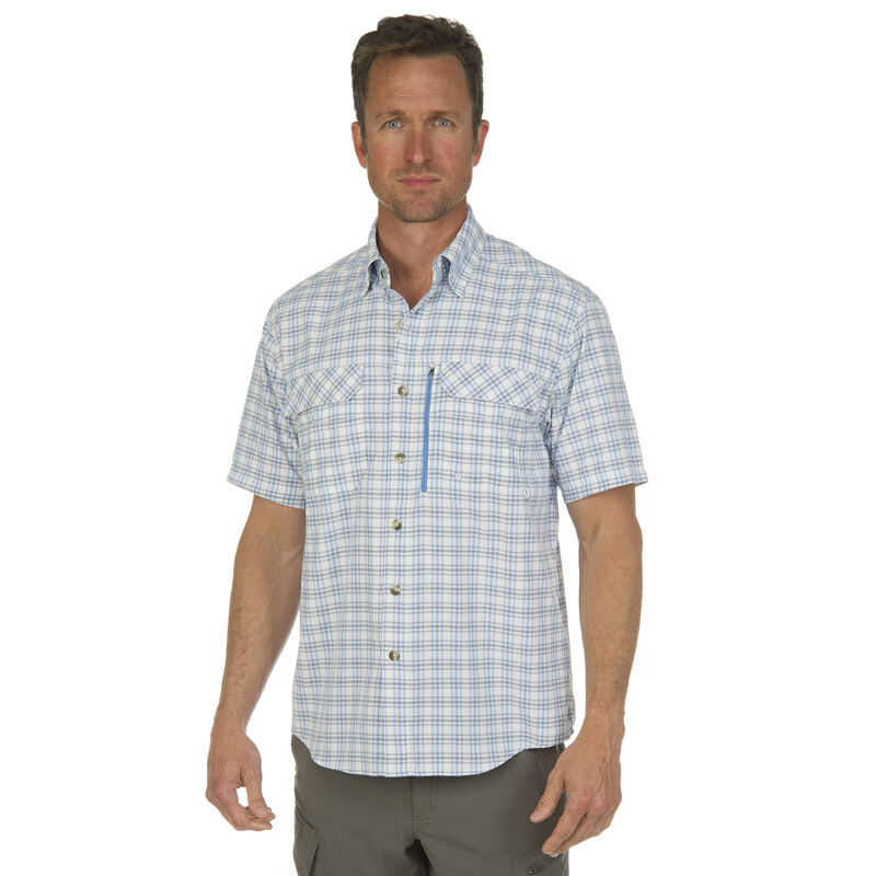 Nepallo Men's Trophy Quick-Dry Plaid Short-Sleeve Shirt image number 3