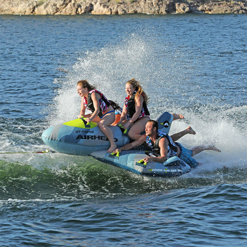 Airhead Jet Fighter 4-Person Towable Tube image number 13
