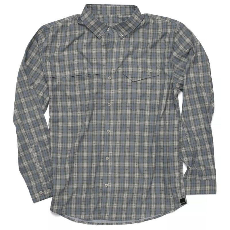 HUK Tide Point Fish Plaid Long Sleeve image number 1