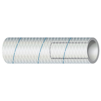 """Shields 5/8"""" Polyester-Reinforced Blue-Tracer Tubing, 25'L"""