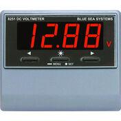 Blue Sea DC Digital Voltmeter with Alarm, 0-60V