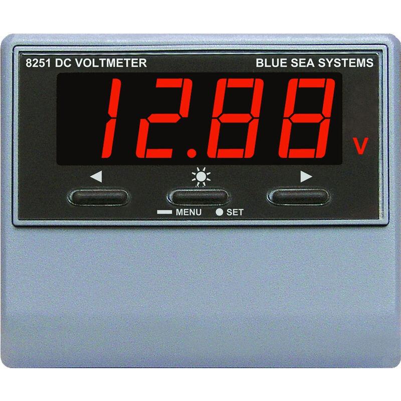 Blue Sea DC Digital Voltmeter with Alarm, 0-60V image number 1