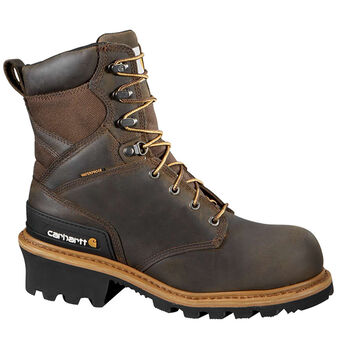 Carhartt Men's 8'' Vintage Saddle Leather Waterproof Logger Boot