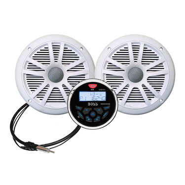 Boss MCKGB350W.6 Marine Gauge Receiver Package With Bluetooth