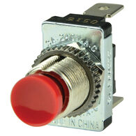 BEP SPST Momentary Contact Switch, Red, Off-On