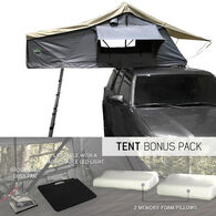 Nomadic 2 Extended Roof Top Tent, Dark Gray and Green
