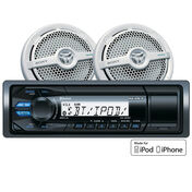 """Sony DSXM50BT Bluetooth Marine Stereo Package With 6.5"""" Speakers"""