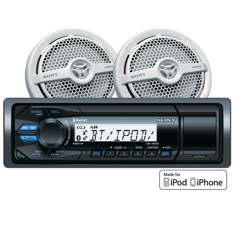 """Sony DSXM50BT Bluetooth Marine Stereo Package With 6.5"""" Speakers image number 1"""