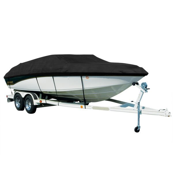 Covermate Sharkskin Plus Exact-Fit Cover for Stratos 201 Pro 201 Pro Sc Low W/S No Ladder W/Port Troll Mtr O/B