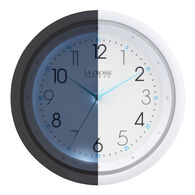 "La Crosse 10"" Wall Clock with Night Vision"