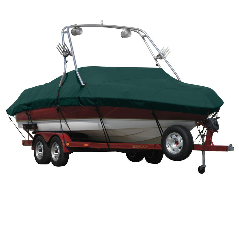 Exact Fit Covermate Sunbrella Boat Cover For MALIBU WAKESETTER 21 VLX w/TITAN TOWER CUTOUTS Doesn t COVER PLATFORM image number 9