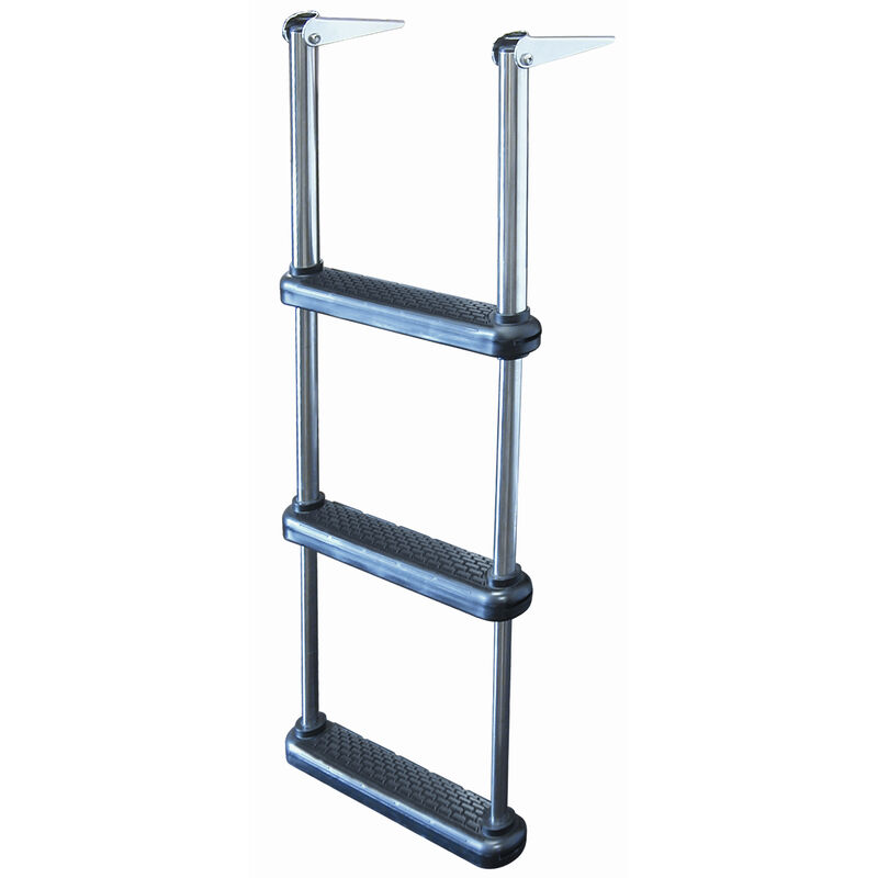 Telescoping Drop Ladder With Plastic Steps, 3-Step image number 1