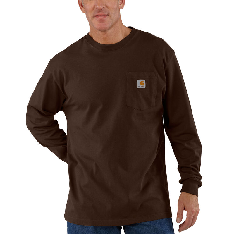 Carhartt Men's Workwear Long-Sleeve Pocket Tee image number 10
