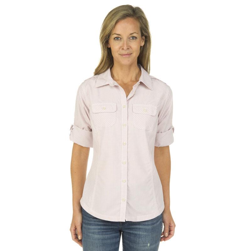 Ultimate Terrain Women's Trailhead Bug Repel Long-Sleeve Plaid Shirt image number 4
