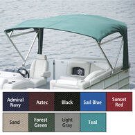 """Buggy Style Pontoon Bimini Top, SurLast Polyester, 1-1/4"""" Free Standing 90""""-96""""W"""