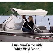 "Shademate White Vinyl 2-Bow Bimini Top, 5'6""L x 42""H, 47""-53"" Wide"