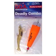 """DOA Fishing Lures Deadly Combo, Popper Clacker Rig, 3"""" Shrimp"""