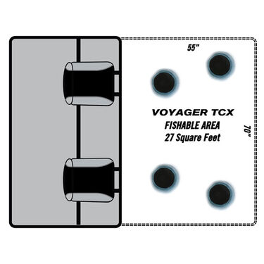 Clam Voyager X Thermal Stealth Fish Trap Ice Shelter