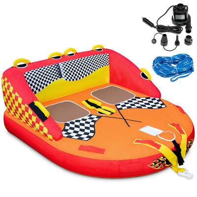Sunny & Fun Two-Person Towable Tube with Cushioned Handles