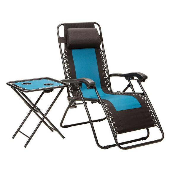 Duo-blend Recliner with Folding Bungee Table