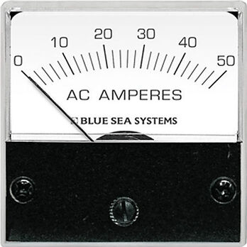 Blue Sea AC Micro Analog Ammeter + Transformer, 0-50A