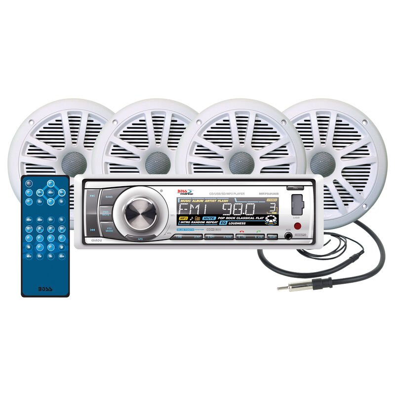 Boss MCK752WB.64 AM/FM/MP3 CD Marine Receiver Package With Bluetooth Capability image number 1