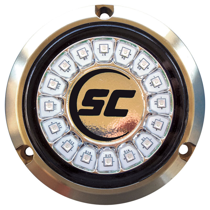 Shadow-Caster Single-Color Bronze Underwater Light – 16 LEDs, Great White image number 1