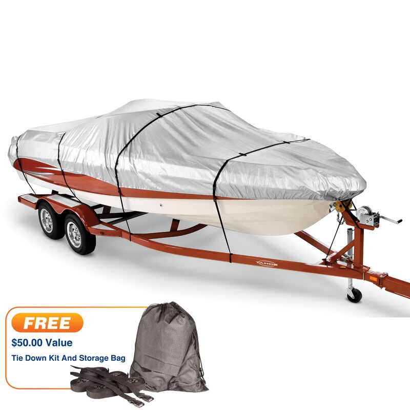 """Covermate HD 600 Trailerable Cover for 16'-18'6"""" Fish and Ski, Pro Bass Boat image number 1"""
