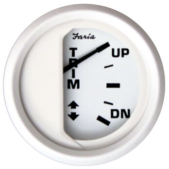 "Faria 2"" Dress White Series Trim Gauge, OMC Outboard"