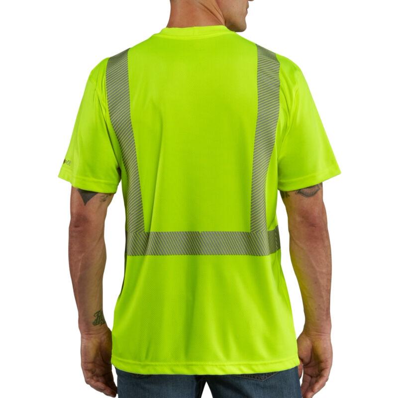 Carhartt Men's Force High-Visibility Short-Sleeve Class 2 T-Shirt image number 3