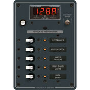 Blue Sea 12/24V DC Branch Circuit Breaker Panel, 5 Position w/Digital Multimeter