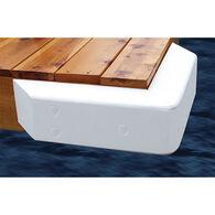 Dock Cushion White Corner