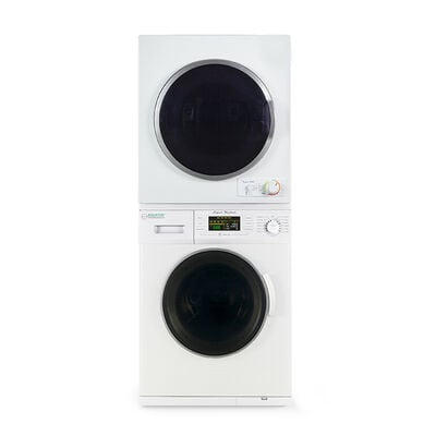 Equator Compact Stackable Washer and Dryer with Quiet, Winterize, and Auto-Dry Features, EW 824 N ED 850