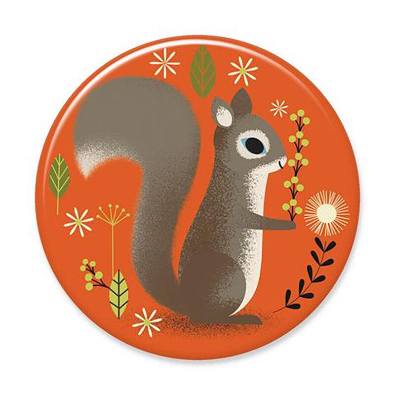 ?Badge Bomb Orange Squirrel Big Magnet image number 1