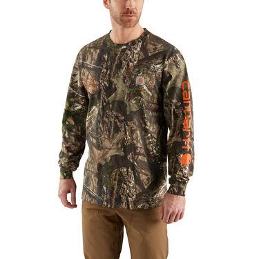 Carhartt Men's Workwear Graphic Camo Long-Sleeve Pocket Tee