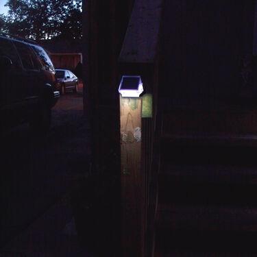 Dock Edge Side-Mount Solar Light