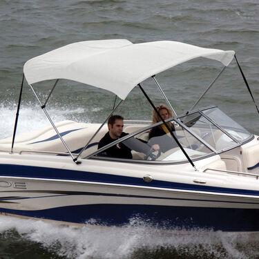 Shademate Sunbrella Stainless 3-Bow Bimini Top 6'L x 54''H 54''-60'' Wide