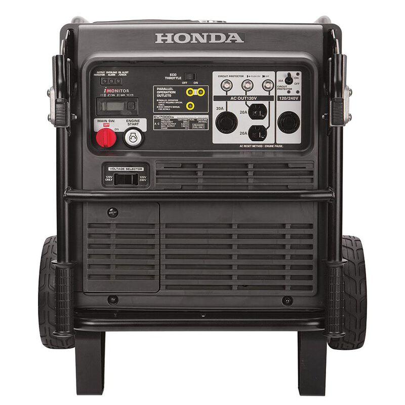 Honda EU7000iS 7,000 Watt Super Quiet Portable Inverter Generator with Electric Start image number 4