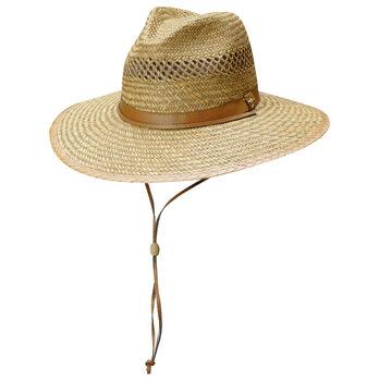 Dorfman Pacific Men's Safari Rush Straw Cord Hat